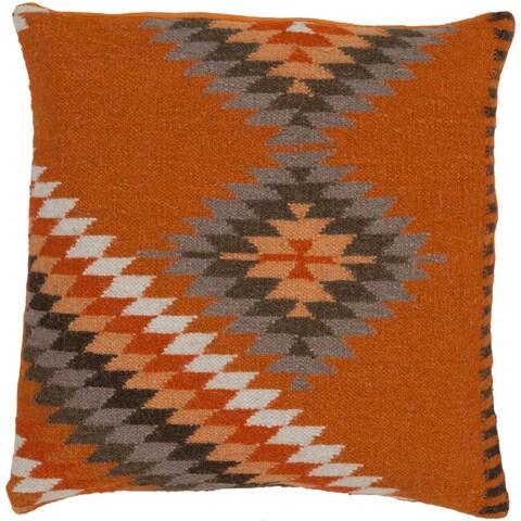 """Valerie Southwestern Burnt Orange Pillow - (Down/Poly Fill 20"""" x 20"""")"""