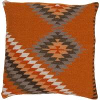 "Valerie Southwestern Burnt Orange Pillow - (Down/Poly Fill 20"" x 20"")"
