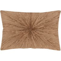 Feivel Modern Khaki Down or Poly Filled Throw Pillow 13 inch x 19 inch