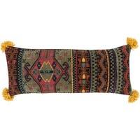 Navid Traditional Dark Green Throw Pillow 30 inch x 12 inch