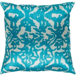 Ivona Traditional Teal Feather Down or Poly Filled Throw Pillow 18-inch