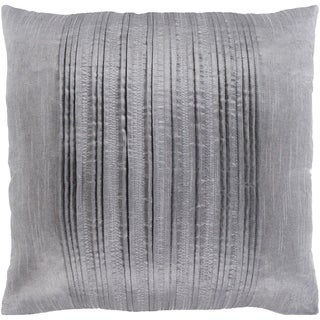 Josune Metallic Silver Down or Poly Filled Throw Pillow 20 inch