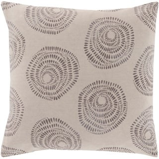 Oleksandra Modern Medallion Gray Feather Down or Poly Filled Throw Pillow 20-inch