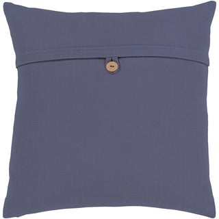 Demetra Traditional Button Navy Feather Down or Poly Filled Throw Pillow 18-inch