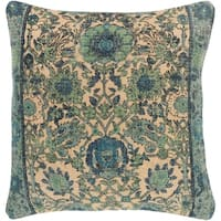 Eris Oriental Traditional Mint Down or Poly Filled Throw Pillow 18 inch