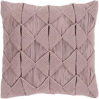 Emilija Macrame Taupe Down or Poly Filled Throw Pillow 22 inch