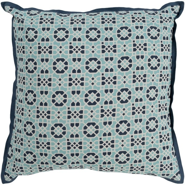 Nadica Geometric Navy Feather Down or Poly Filled Throw Pillow 18-inch