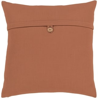 Demetra Traditional Button Camel Feather Down or Poly Filled Throw Pillow 18-inch