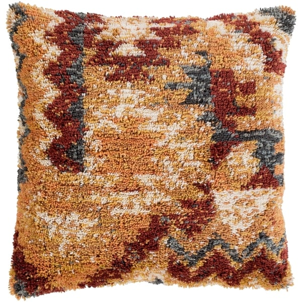Elias Southwestern Mustard Feather Down or Poly Filled Throw Pillow 18-inch