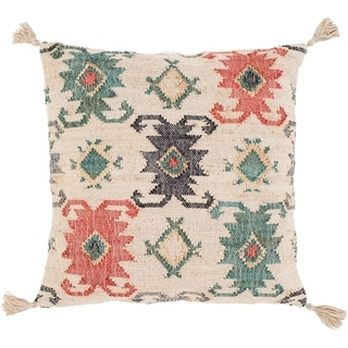 Maddox Traditional Teal Feather Down or Poly Filled Throw Pillow 20-inch