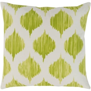 Valeriya Modern Ikat Lime Feather Down or Poly Filled Throw Pillow 18-inch