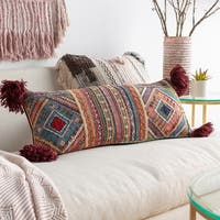 Nthanda Traditional Coral Throw Pillow 30 inch x 12 inch