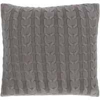 Rosali Knit Medium Gray Down or Poly Filled Throw Pillow 20 inch
