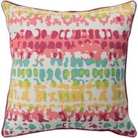 Eztebe Abstract Modern Mustard Feather Down or Poly Filled Throw Pillow 18-inch