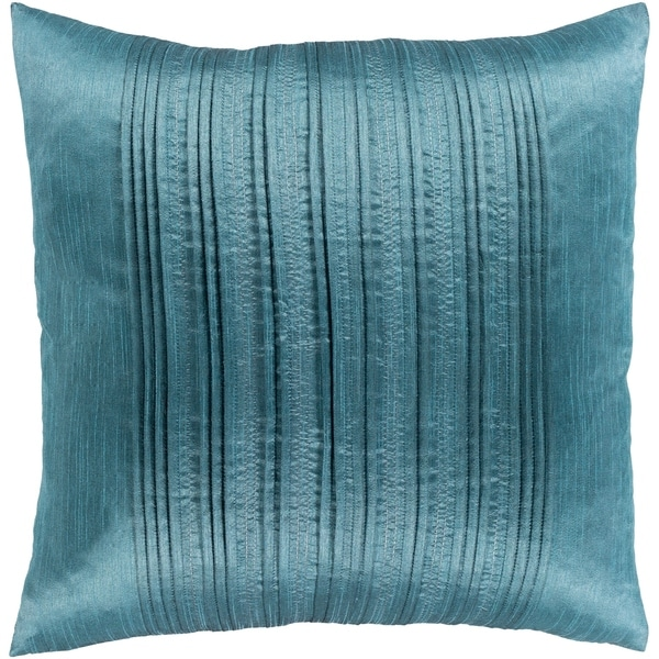 Josune Metallic Teal Feather Down or Poly Filled Throw Pillow 20-inch
