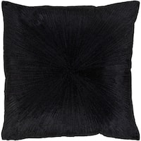 Feivel Modern Black Feather Down or Poly Filled Throw Pillow 20-inch