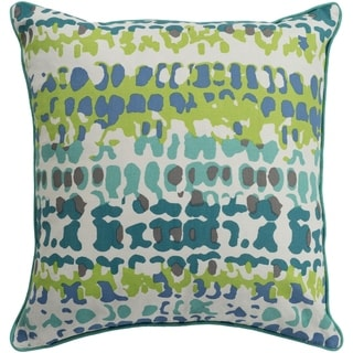 Eztebe Abstract Modern Teal Down or Poly Filled Throw Pillow 20 inch