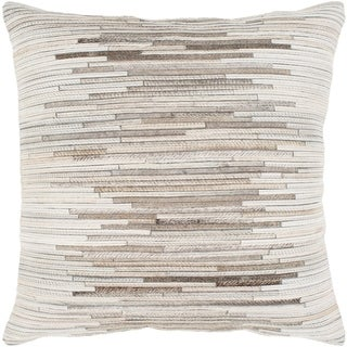 Aatos Hide White Feather Down or Poly Filled Throw Pillow 20-inch