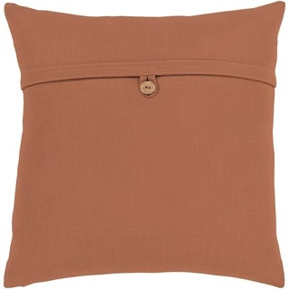 Demetra Traditional Button Camel Feather Down or Poly Filled Throw Pillow 20-inch