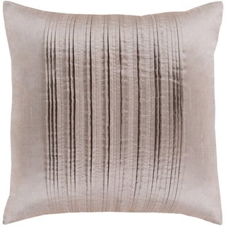 Josune Metallic Taupe Feather Down or Poly Filled Throw Pillow 18-inch