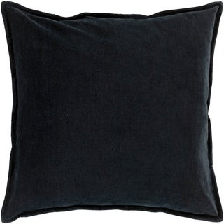 "Vianne Solid Black Pillow - (Down/Poly Fill 20"" x 20"")"