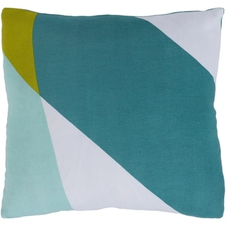Norene Abstract Modern Mint Feather Down or Poly Filled Throw Pillow 20-inch