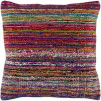 Pingere Bright Bohemian Feather Down or Poly Filled Throw Pillow 18-inch