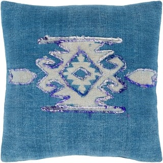 Narcisa Southwestern Dark Blue Feather Down or Poly Filled Throw Pillow 20-inch