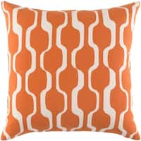 Haylie Modern Trellis Burnt OrangeDown or Poly Filled Throw Pillow 18-inch