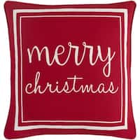 Epulari Christmas Holiday Red Feather Down or Poly Filled Throw Pillow 18-inch