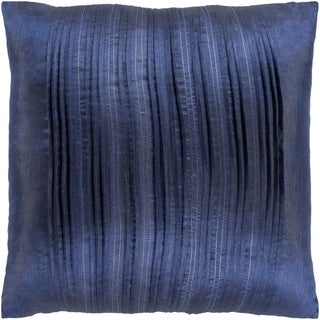Josune Metallic Navy Feather Down or Poly Filled Throw Pillow 20-inch