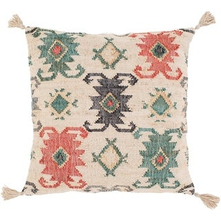 Maddox Traditional Teal Down or Poly Filled Throw Pillow 30 inch