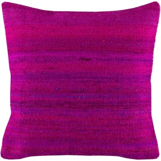 Pingere Traditional Bright Purple Feather Down or Poly Filled Throw Pillow 18-inch