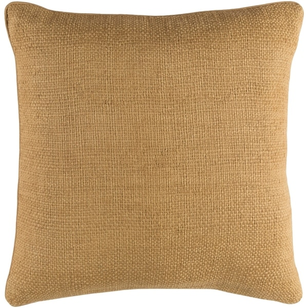 Glenavy Traditional Wheat Feather Down or Poly Filled Throw Pillow 18-inch
