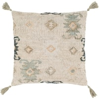 Maddox Traditional Khaki Feather Down or Poly Filled Throw Pillow 20-inch
