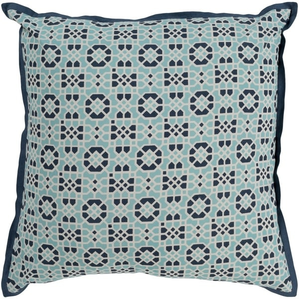 Nadica Geometric Navy Feather Down or Poly Filled Throw Pillow 22-inch