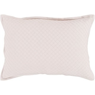 Sandra Geometric Blush Feather Down or Poly Filled Throw Pillow 13 inch x 19 inch