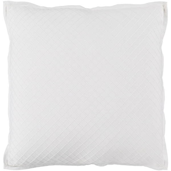 Sandra Geometric Cream Feather Down or Poly Filled Throw Pillow 20-inch