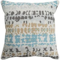 Eztebe Abstract Modern Aqua Down or Poly Filled Throw Pillow 18 inch
