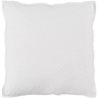 Sandra Geometric Cream Feather Down or Poly Filled Throw Pillow 18-inch