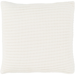 Tamati Knit Cream Down or Poly Filled Throw Pillow 20 inch