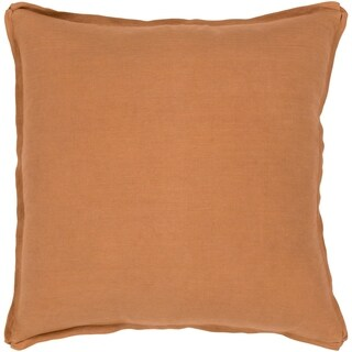 Sterling Classic Burnt Orange Feather Down or Poly Filled Throw Pillow 22-inch