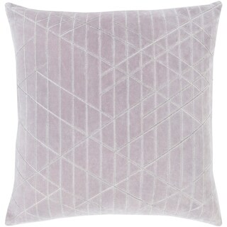 Mariet Velvet Modern Geometric GrayDown or Poly Filled Throw Pillow 20-inch