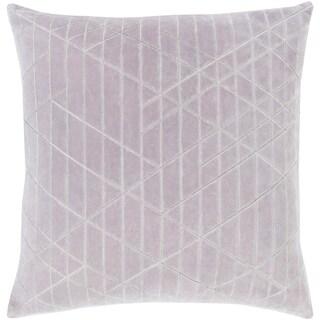 Mariet Velvet Modern Geometric GrayDown or Poly Filled Throw Pillow 20 inch