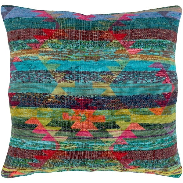 Esmee Traditional Aqua Feather Down or Poly Filled Throw Pillow 20-inch