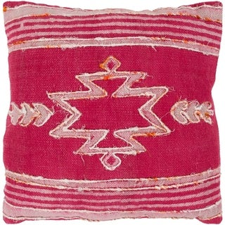 Narcisa Southwestern Bright Pink Feather Down or Poly Filled Throw Pillow 20-inch