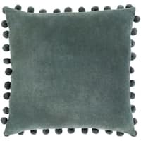 Sophus Velvet Charcoal Feather Down or Poly Filled Throw Pillow 20-inch