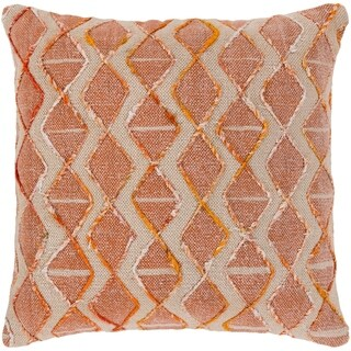 Mahva Traditional Coral Feather Down or Poly Filled Throw Pillow 20-inch
