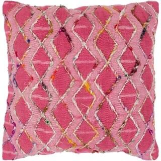 Mahva Traditional Fuchsia Feather Feather Down Throw Pillow 20-inch