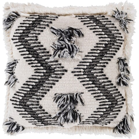 Esha Southwestern Cream Feather Down or Poly Filled Throw Pillow 20-inch